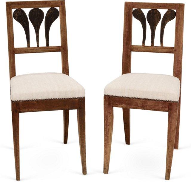 Danish Side Chairs, Pair