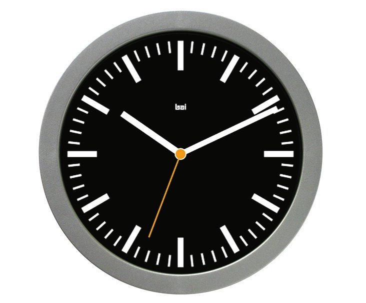 Luis Studio Wall Clock, Black