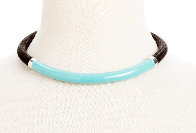 Briar Collar, Black/Turquoise