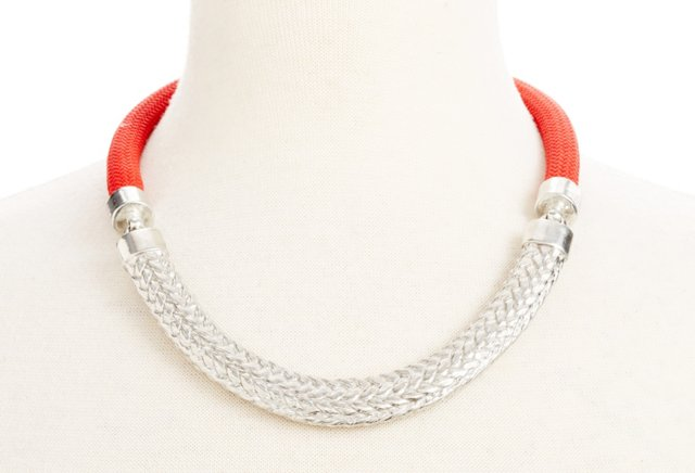 Concord Necklace, Red/Silver