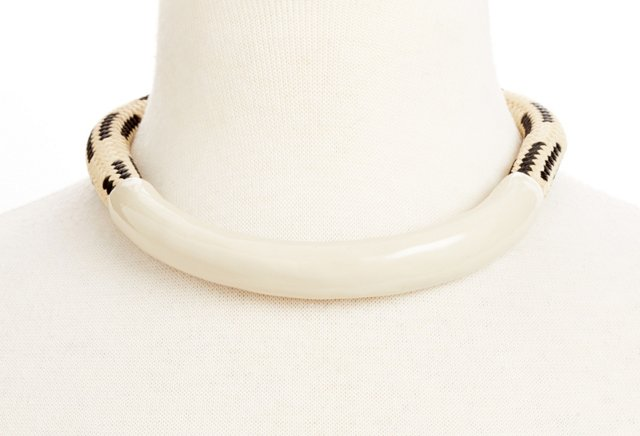 Cortland Collar, Cream/Black