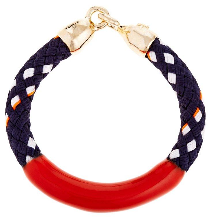 Annabelle Bracelet, Navy/Orange
