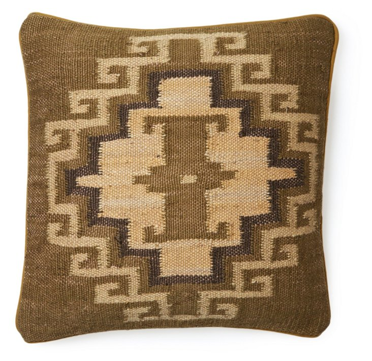 Mohegan 20x20 Jute-Blended Pillow, Camel