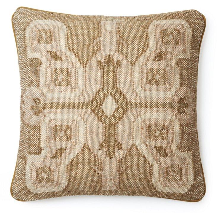 Persia 20x20 Jute-Blend Pillow, Tan