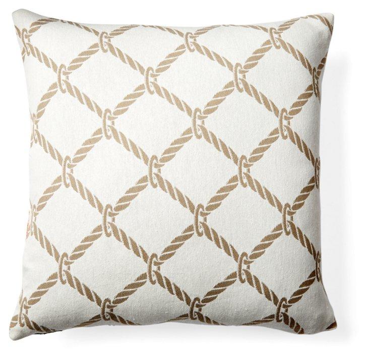 Nautical Rope Pillow, Sand