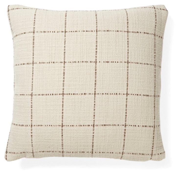 Highlander 18x18 Cotton Pillow, Cocoa