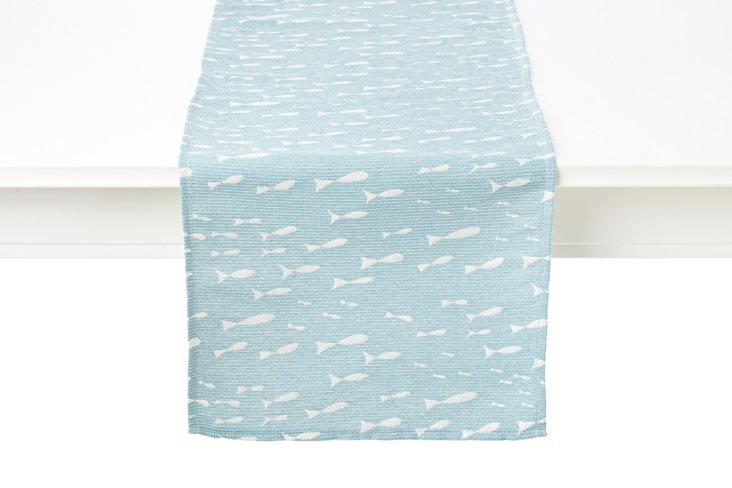 Minnow Table Runner, Blue