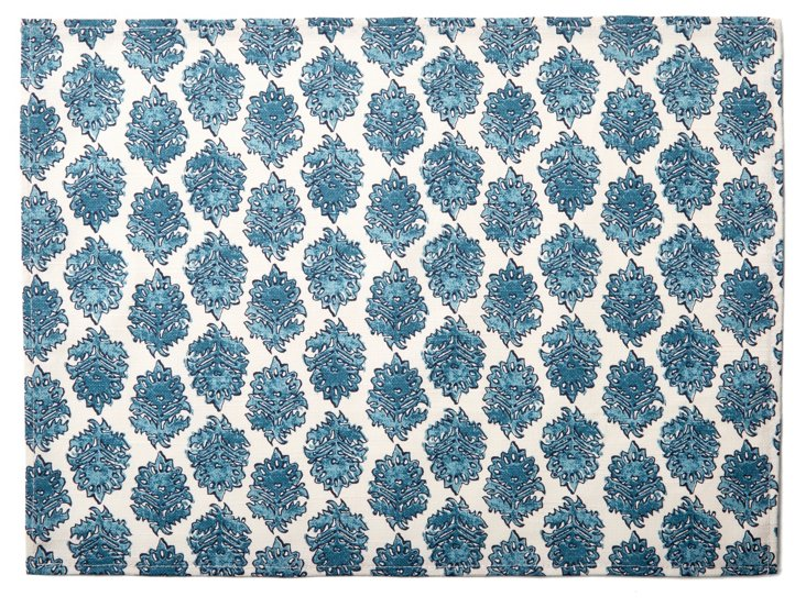 S/4 Lattice Place Mats, Blue