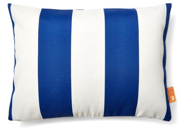 Striped 12x16 Outdoor Pillow, Blue