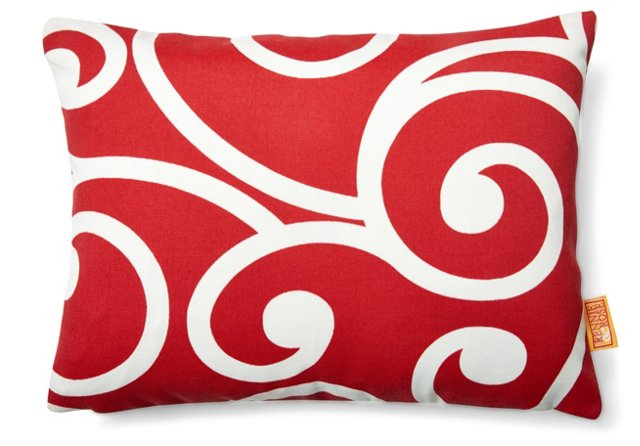 Vine 12x16 Outdoor Pillow, Red