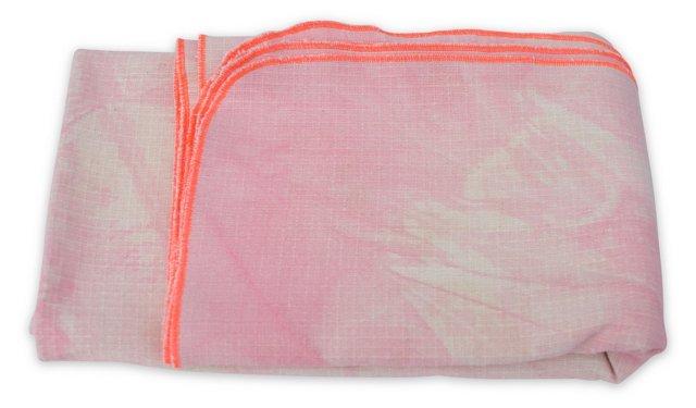 Hand-Dyed Blanket w/ Box, Pink & Orange