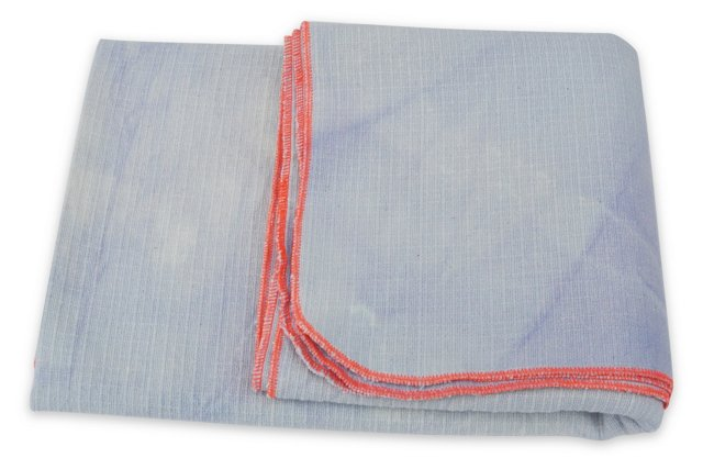 Hand-Dyed Blanket w/ Box, Blue & Orange