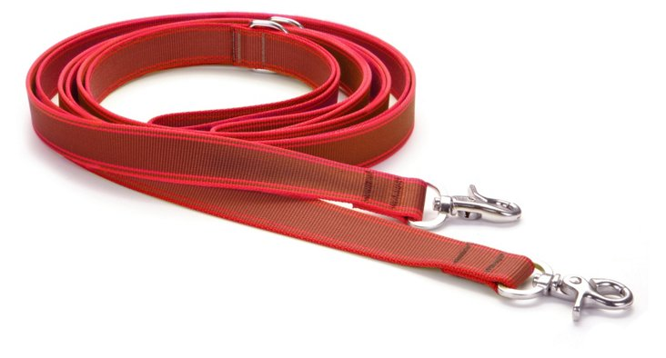 Small Stripe Hype Leash, Chocolate