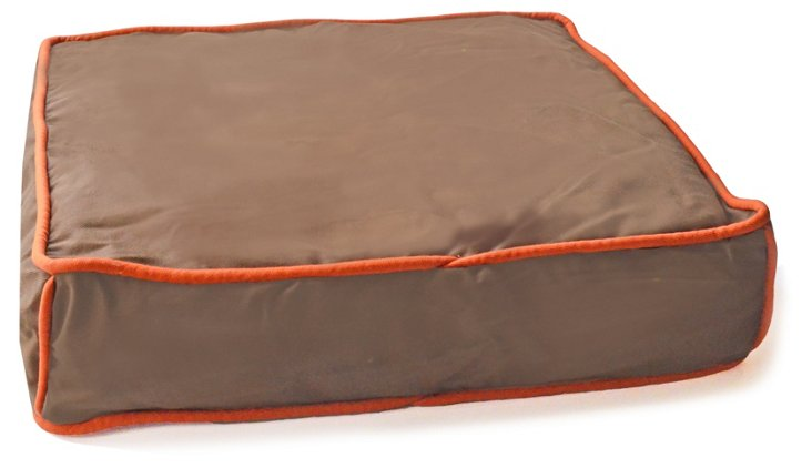 Colorblocker Square Bed, Chocolate