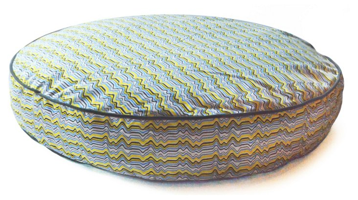 Wave Circle Bed, Yellow