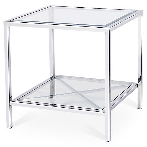 Gardner Side Table, Silver