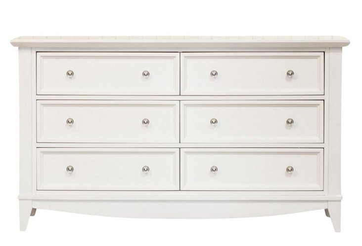 Arlington Double Dresser, White