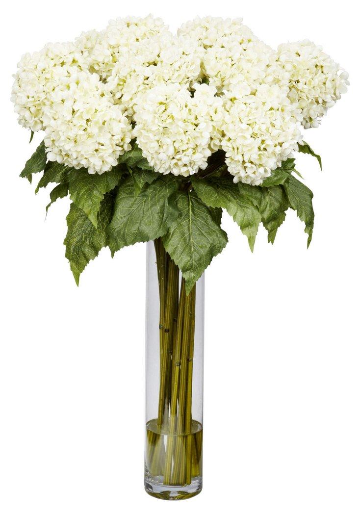 """31"""" Hydrangea in Vase, Faux"""