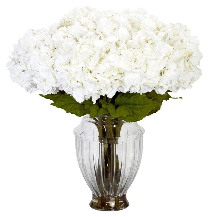 """32"""" Hydrangea in European Vase, Faux"""