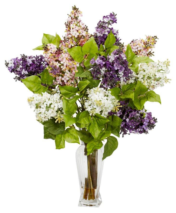 """24"""" Lilac Arrangement, Faux"""