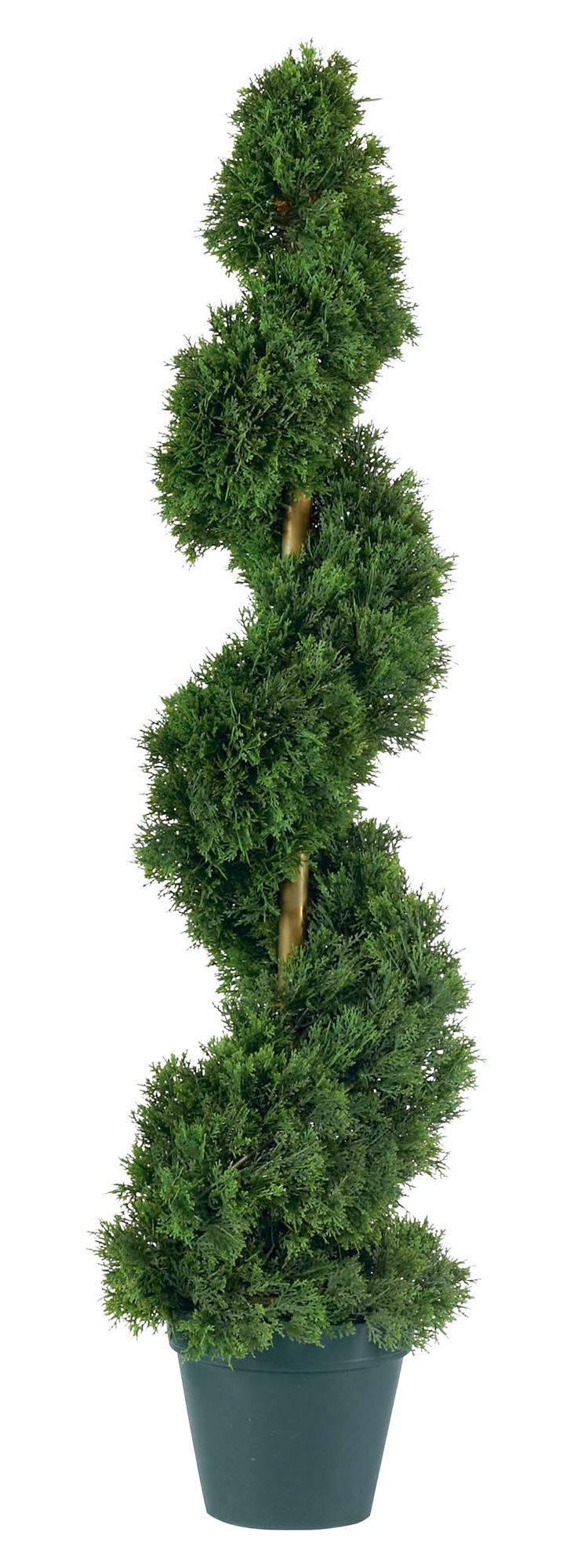 3' Cedar Spiral Tree, Faux