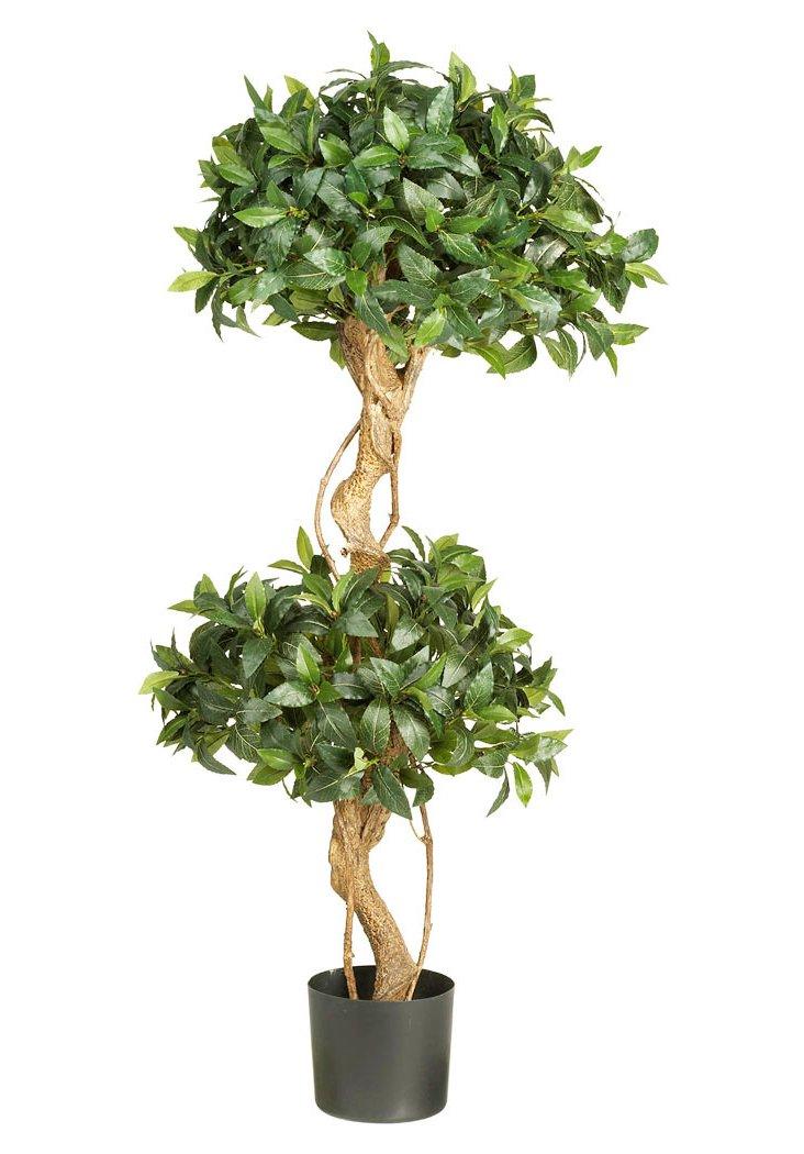 4' Sweet Bay Topiary Tree, Faux