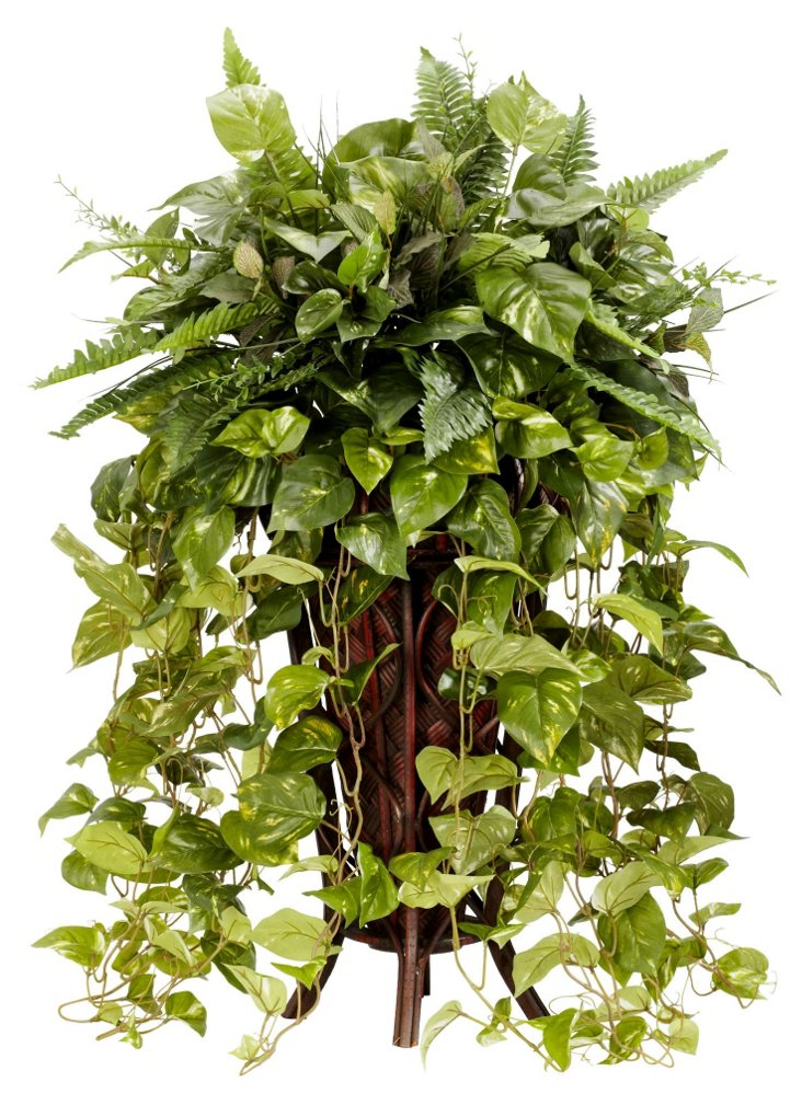 3' Vines in Stand, Faux