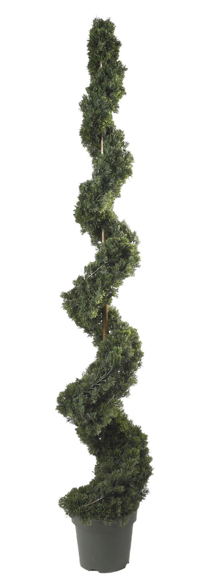 6' Spiral Cedar Tree, Faux