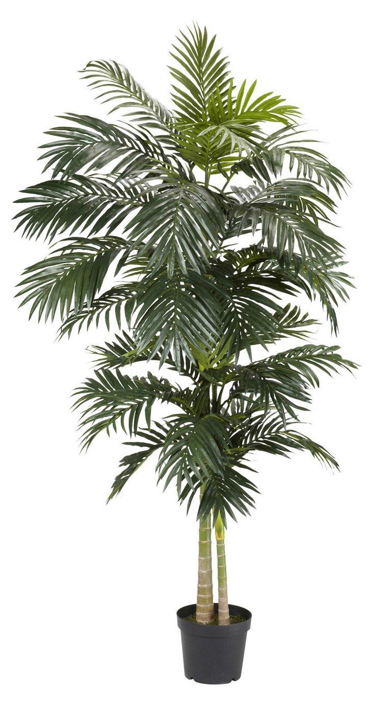 8' Golden Cane Palm Tree, Faux