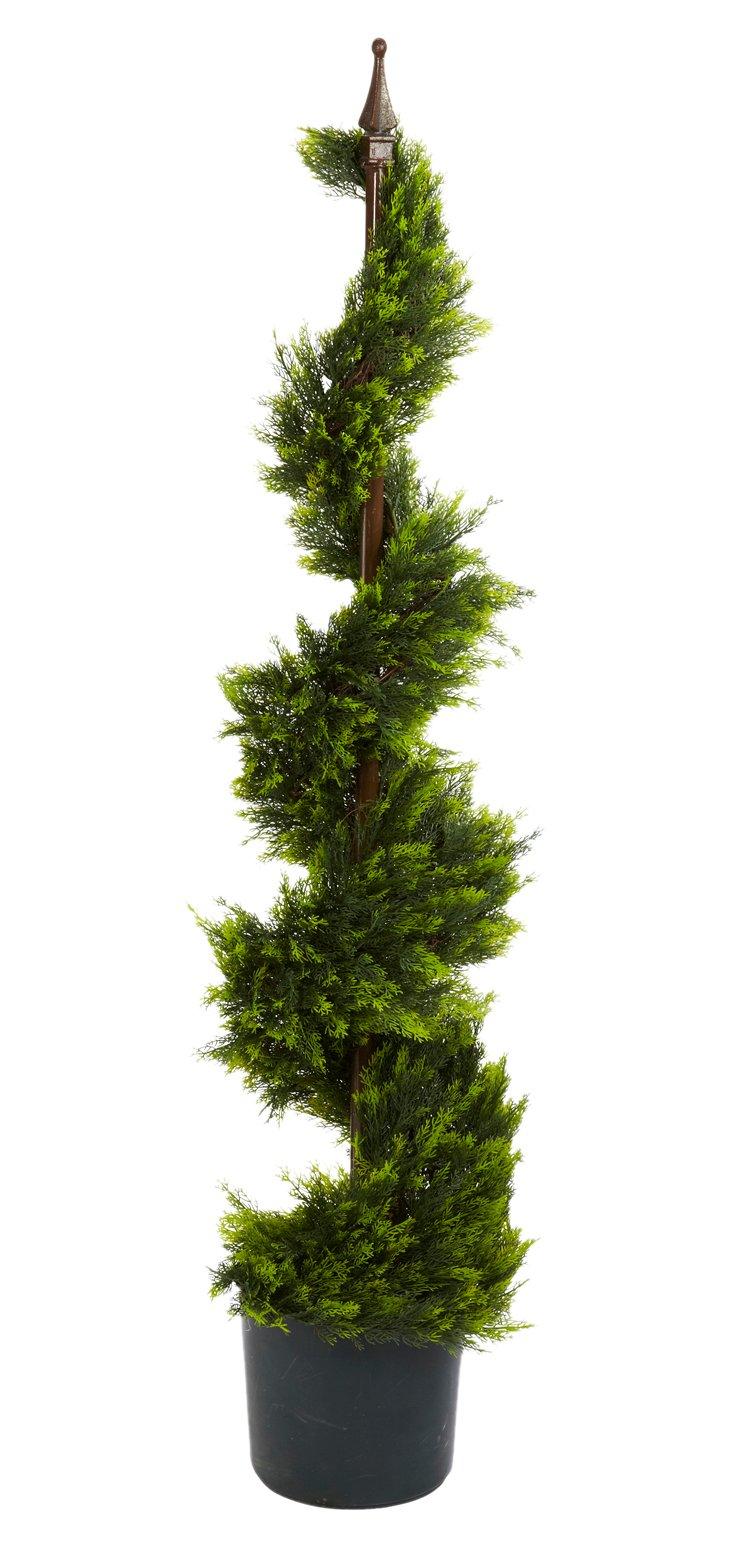 4' Cypress Spiral Tree, Faux