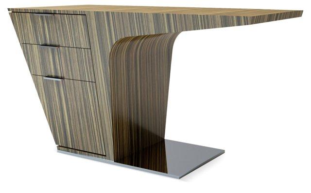 Mercer Desk, Black/Pecan