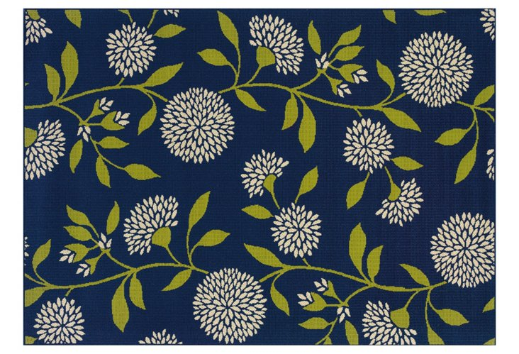 Oahu Outdoor Rug, Blue/Green