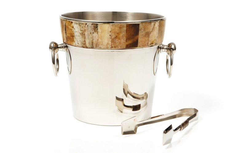 Wine Cooler and Ice Tongs