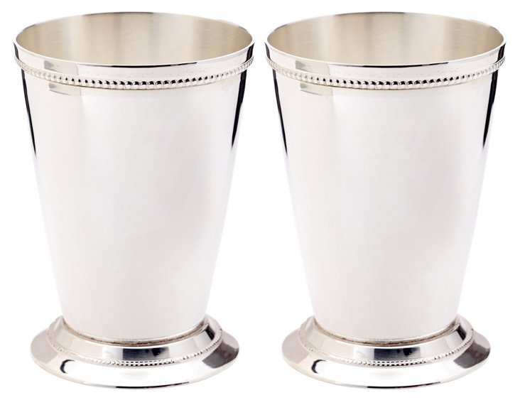S/2 Beaded Julep Cups, Medium