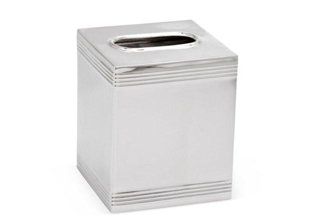 Tissue Box, Silver