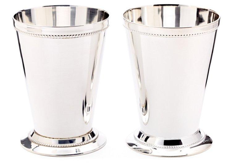 S/2 Beaded Julep Cups, Medium