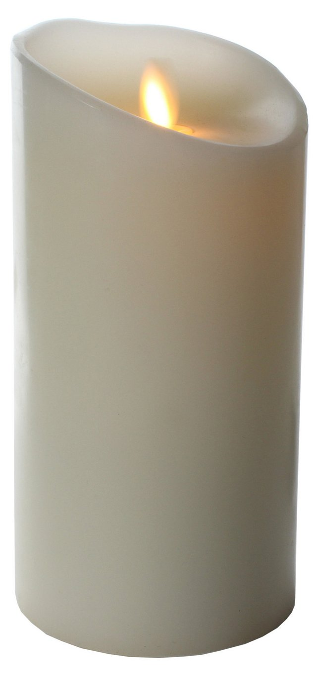 """7"""" Flameless Candle w/ Timer, White"""
