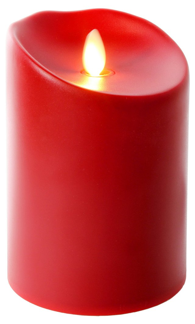 """5"""" Outdoor-Safe Flameless Candle, Red"""