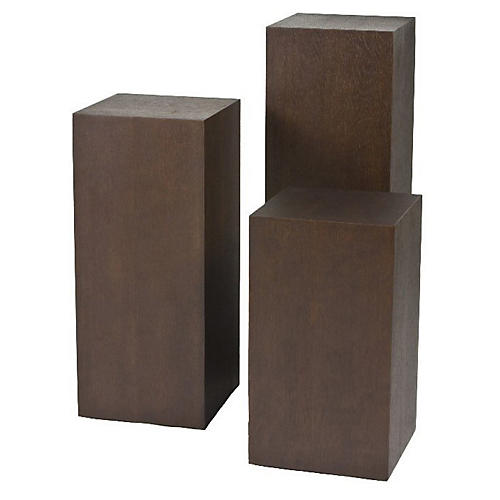 Miami Pedestal Side Tables, Espresso