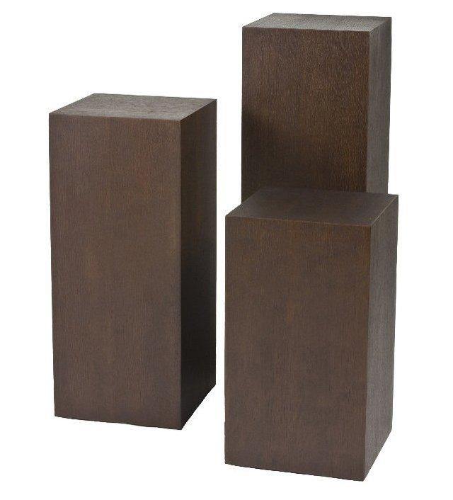 Espresso Miami Pedestal Set, Set of 3