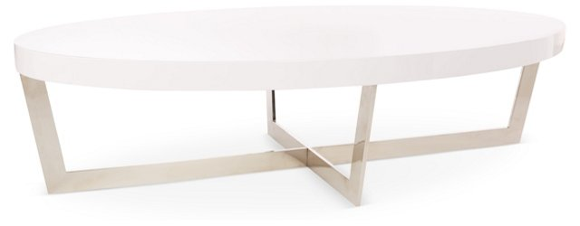 Oyster Coffee Table, White