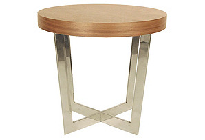Oyster Side Table, Walnut