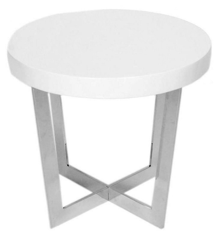 Oyster Side Table, White