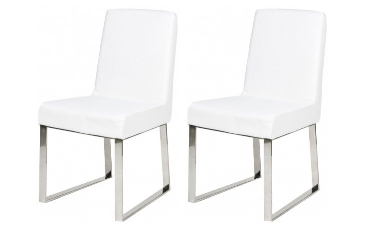 White Sien Dining Chairs, Pair