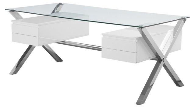 Large Beverly Desk, White