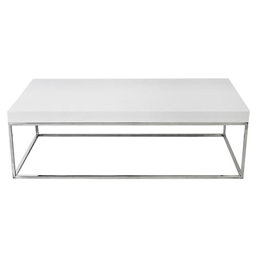 Fred Coffee Table, White Lacquer