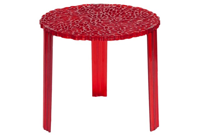 Honeycomb Side Table, Red