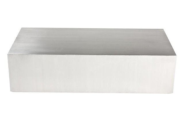 Cubix Coffee Table, Brushed Metal