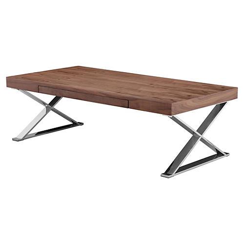 """Carlson 48"""" Coffee Table, Walnut"""