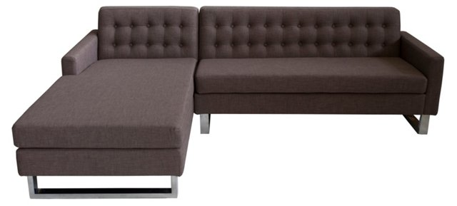 Sloan Left-Arm Sectional, Cocoa